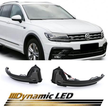 Clignotants de rétroviseurs noir fumé à LED Dynamiques Volkswagen Tiguan 2 16+