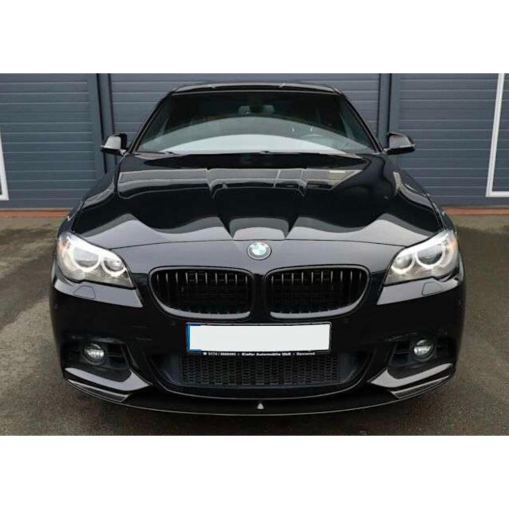 2x Reins Calandre pour BMW f10 f11 f18 09-16 doppelsteg Brillant Noir