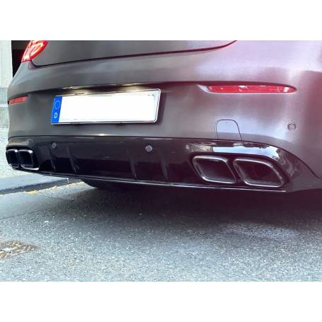 Diffuseur arriere et sorties d'échappements Mercedes Classe C C205 A205 Coupe Cabrio Look C63S AMG 14-19
