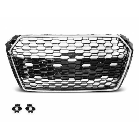Calandre Audi A4 B9 Chrome / Noir Look RS4 15-19