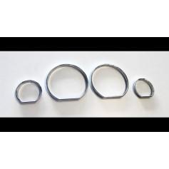 4x Cerclage de compteur chrome Bmw E46