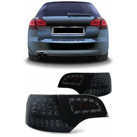 Feux arrières LED Noir fumés Audi A4 B7 Avant (04-08)