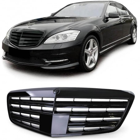 Calandre Mercedes Classe S noir brillant W221 09-13