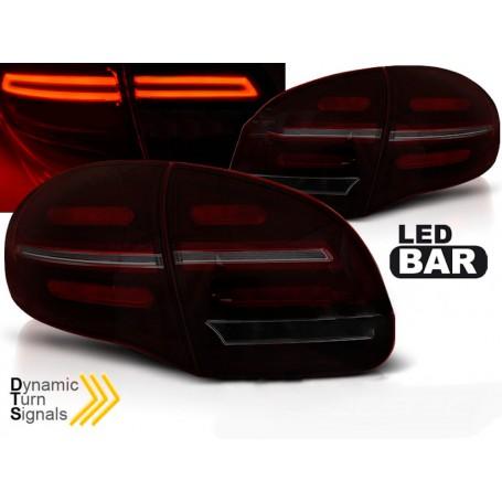 2x Feux arrieres LED fumes Porsche Cayenne 10-15
