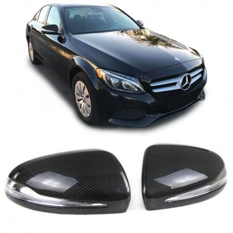 2x Coques de retroviseurs en carbone Mercedes Classe C W205, E W213, S W222