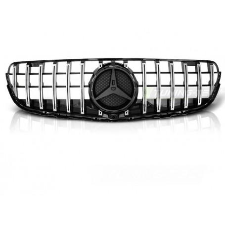 Calandre Mercedes GLC X253 Coupe W253 SUV Look GT-R Noir et chrome 15-19