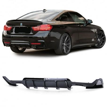 Diffuseur arriere noir brillant BMW serie 4 F32 F36 look M4 13+ (2+2)