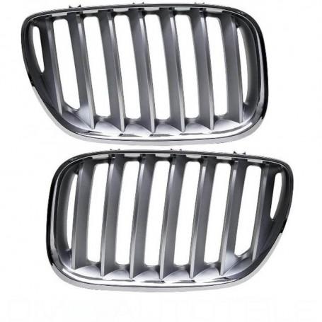 2x Grilles de Calandre BMW X5 E53 LCI Titan 03-07