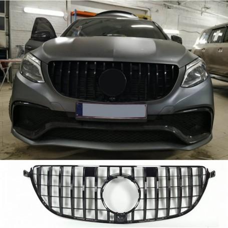 Calandre Mercedes GLE 63 AMG coupe C292 Noir brillant 15+