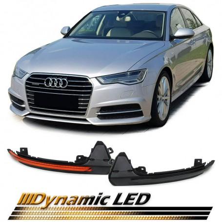 2x Clignotants noirs fumés à LED dynamiques Audi A6 4G 10+