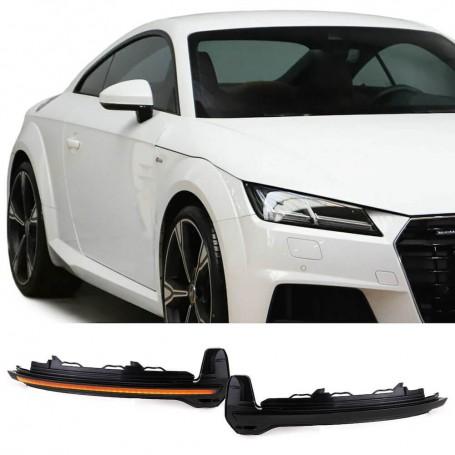 2x Clignotants noirs fumés à LED dynamiques Audi TT, R8 16-18