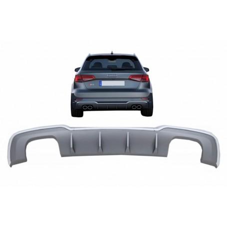 Diffuseur arriere Audi A3 8V Coupé / Sportback Facelift (avec Pack S-Line) Look S3 16-19 (2+2)