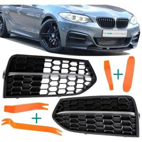2x Grilles anti brouillard BMW F22 F23 (avec Pack M) (13-19)