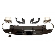 Diffuseur Noir brillant + Echappements Night Package Mercedes CLA W117 C117 Look CLA 45 AMG (16-19)
