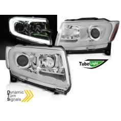 2x Phares à LED look Xenon Chrysler Jeep Grand Cherokee (11-13)