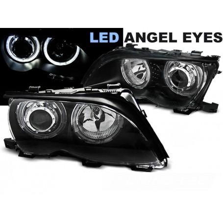 2x Phares avants BMW Serie 3 E46 Angel Eyes LED (01-05)