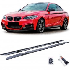 2x rajouts latérales noir brillant BMW Série 2 F22 F23 (13+)