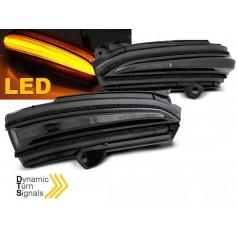 2x Clignotants noirs fumés à LED dynamiques Ford Mondeo Fusion MK5 (14-18)